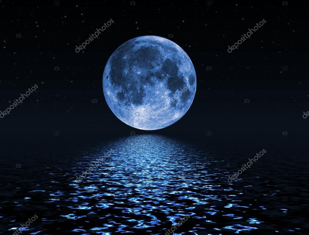 Night Sky 3d Wallpaper Cielo Notturno Con Le Stelle E La Luna Piena Sfondo Foto