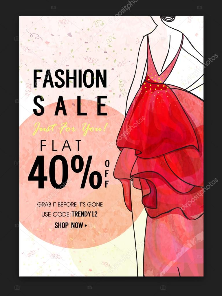 Fashion Sale Poster, Banner or Flyer design \u2014 Stock Vector - fashion poster design