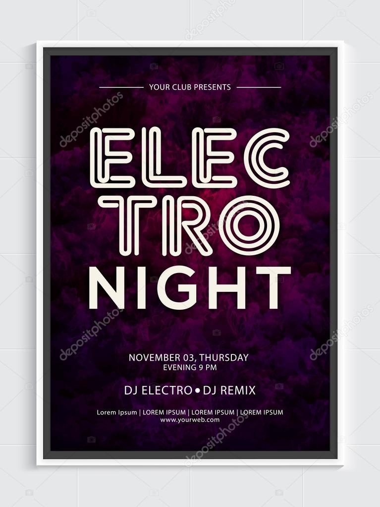 Night Party Template, Banner or Flyer design \u2014 Stock Vector