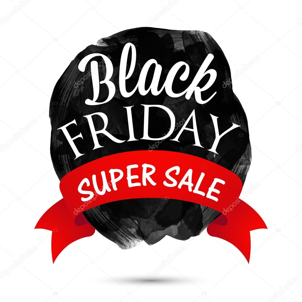 Black Sale Black Friday Super Sale Poster Banner Or Flyer Stok Vektör