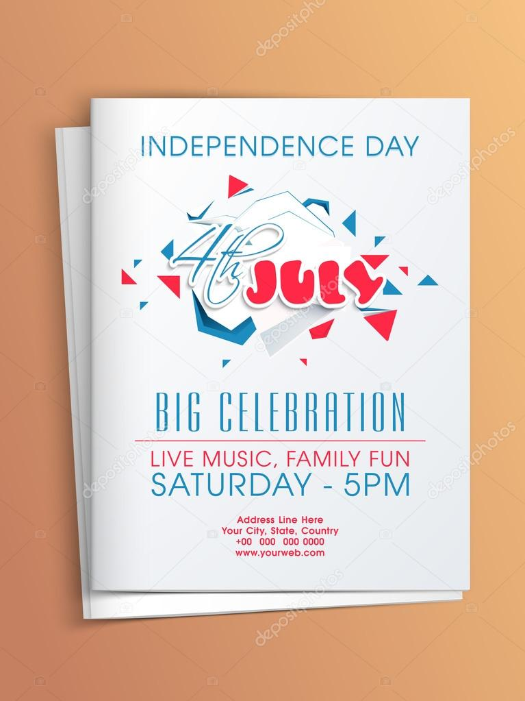 American Independence Day invitation card \u2014 Stock Vector