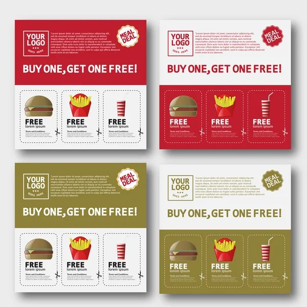 Fast Food Voucher Template u2014 Stock Vector © zzoplanet #91582052 - food voucher template