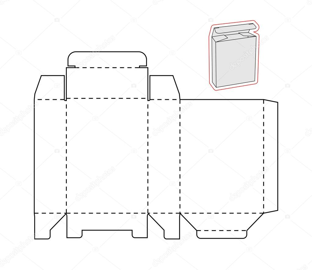 Papyre Bajar Libros Template Of A Simple Box. Cut Out Paper Or Cardboard