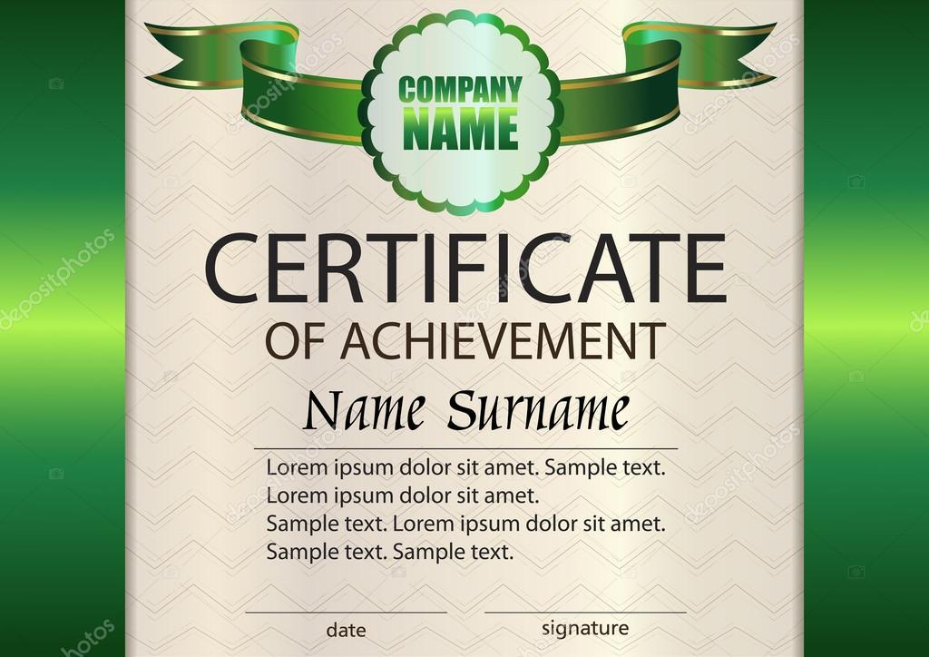 Vector certificate of achievement template Award winner Reward