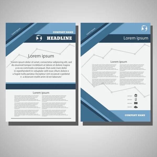 Double fold brochure design elemenr, vector illustartion Eps 10 - double fold brochure