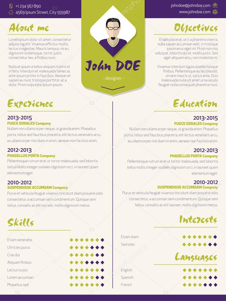 Curriculum Vitae Tips And Samples Colorido Moderno Curr237;culo Curriculum Vitae Modelo Com