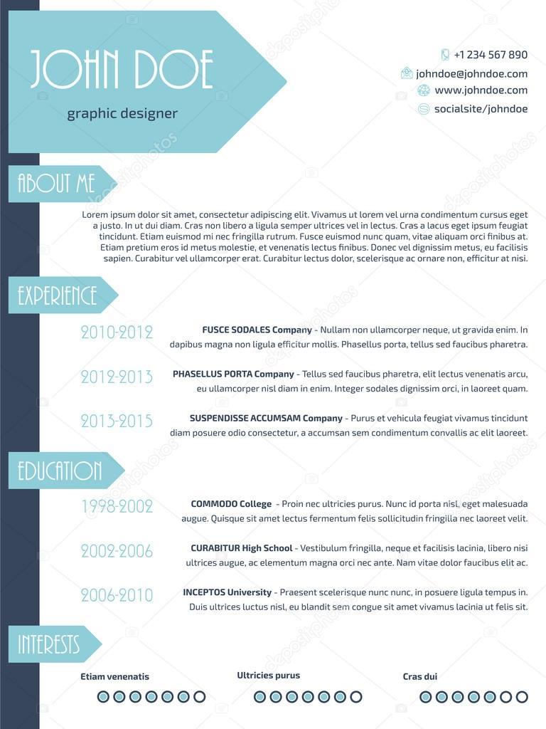 simplistic resume template