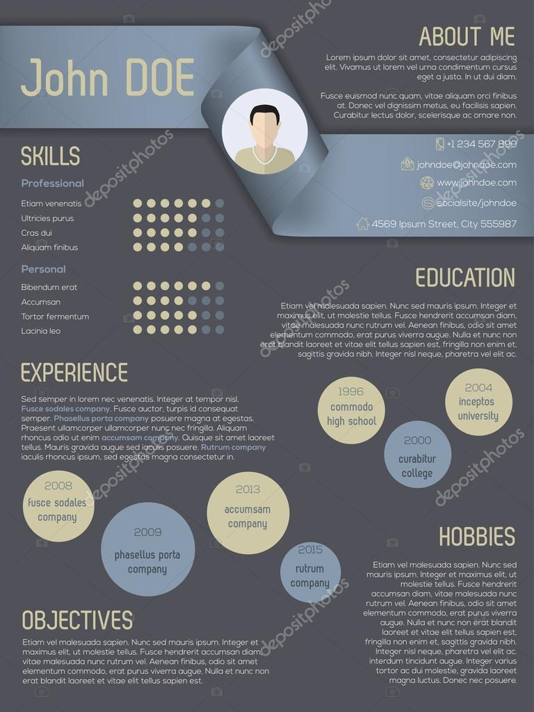 illustration cv moderne