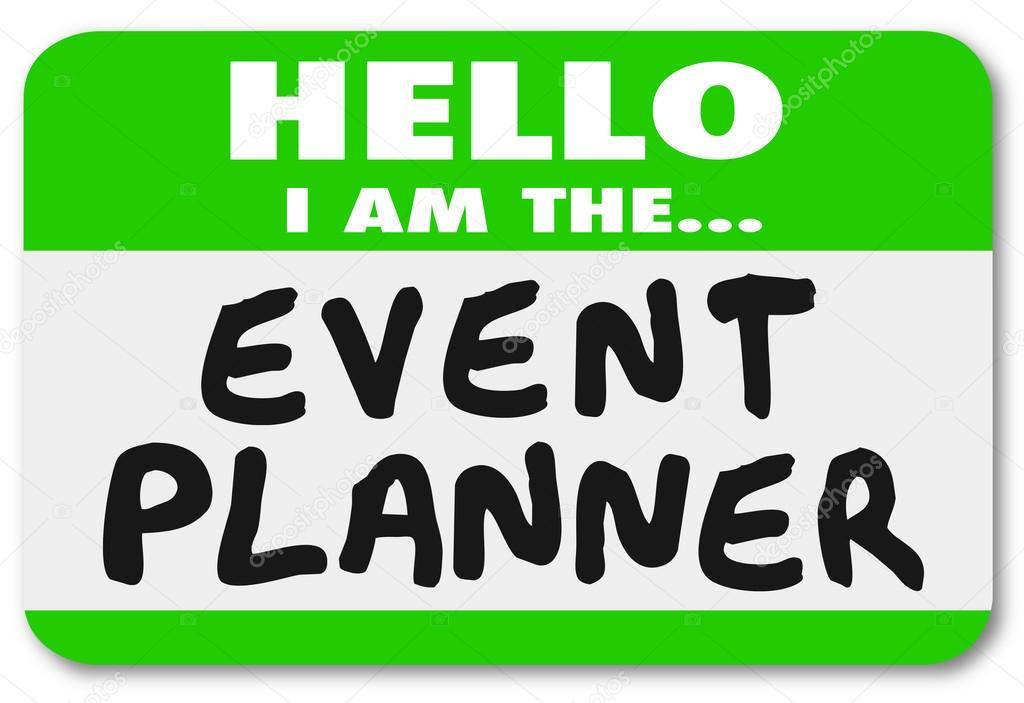 Hola soy la calcomanía de identificación planificador de eventos