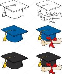 Birretes De Graduacion Para Colorear Pinto Dibujos Certificado