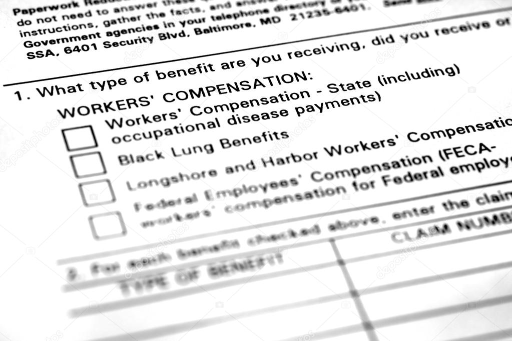 Workers Compensation Application Form \u2014 Stock Photo © eric1513 - worker compensation form