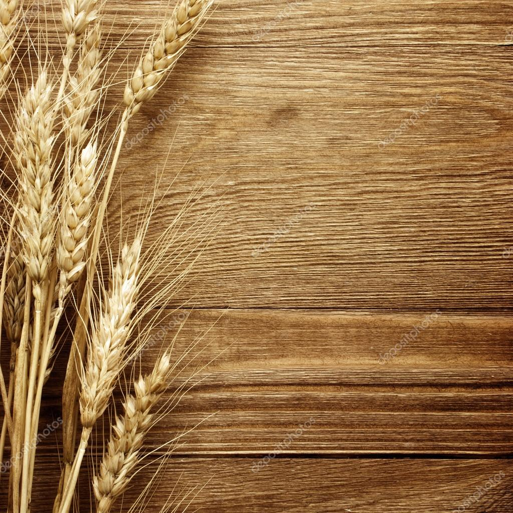Fall Harvest Wallpaper Hd Wheat On The Wood Background Stock Photo 169 Korovin 59982825
