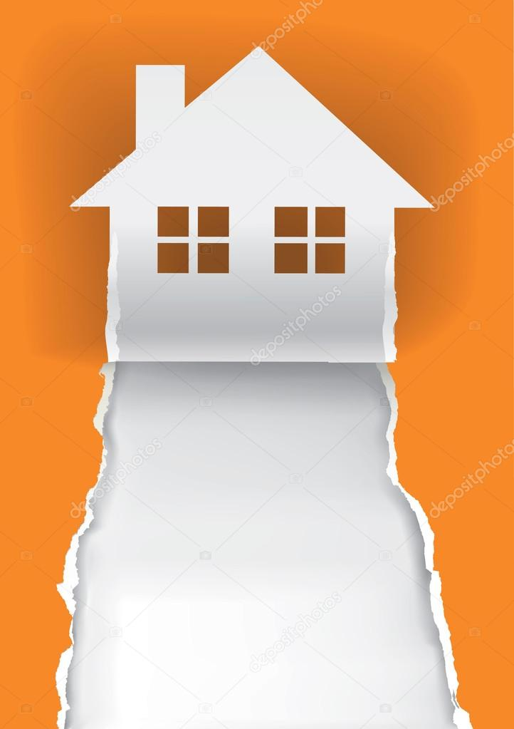 House for sale advertisement template \u2014 Stock Vector © chachar - house for sale sign template