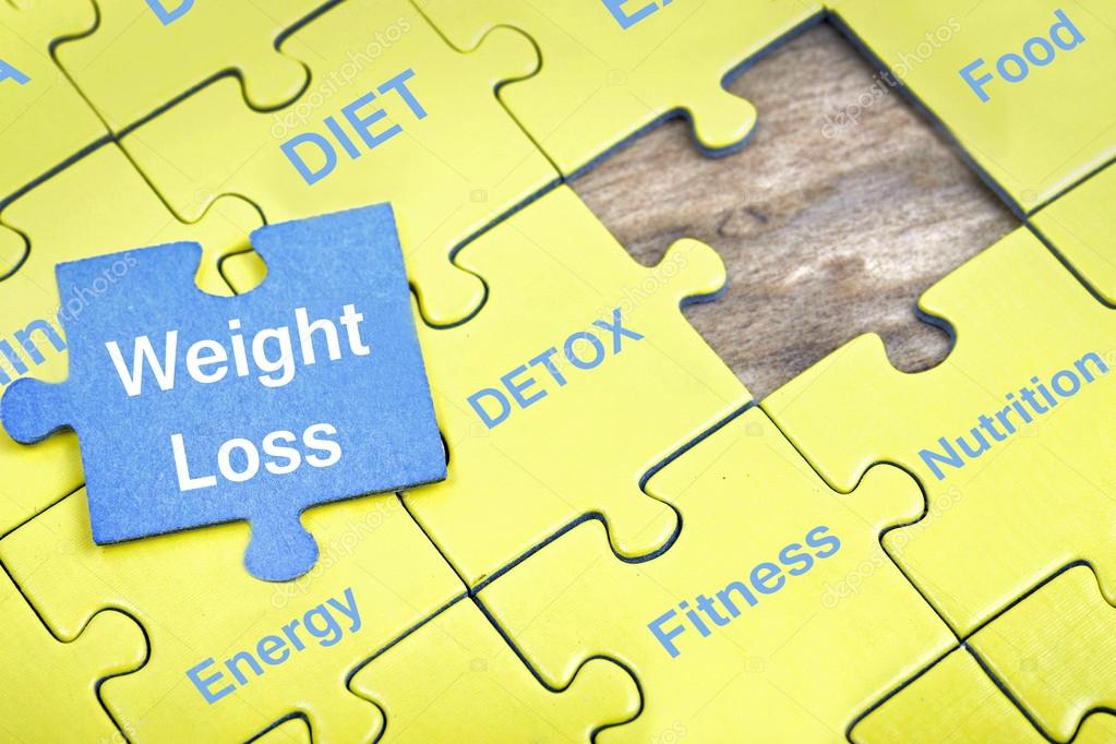 Puzzle with word Weight Loss \u2014 Stock Photo © fuzzbones #118258696