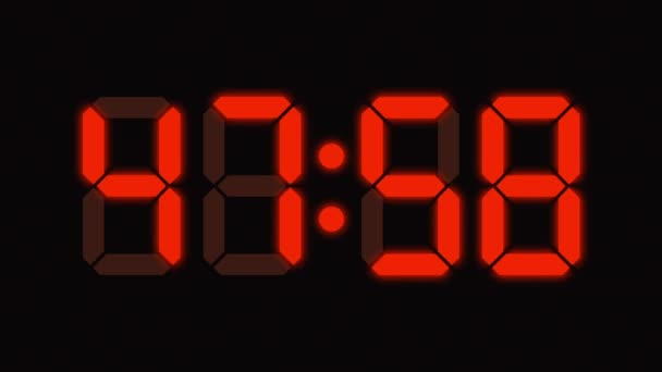 Digital clock countdown from sixty to zero - full HD - LED display