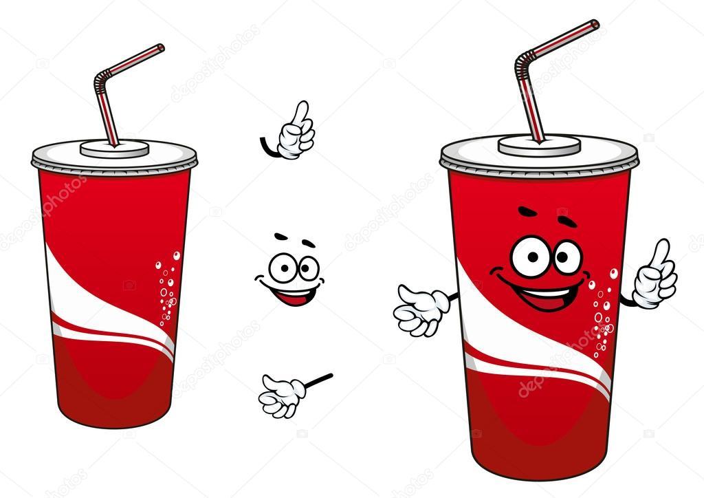 Personagem De Desenho Animado De Cola Ou Refrigerante