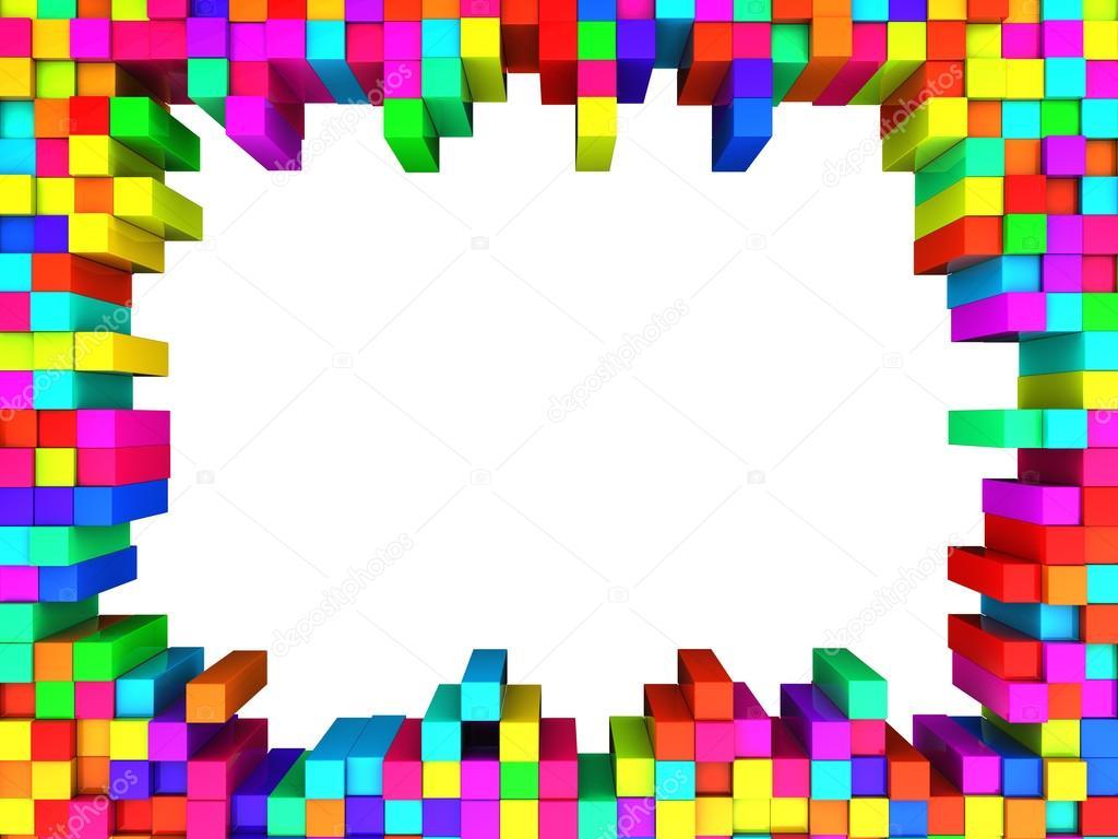 Cubes 3d Wallpaper Marco De La Colores Cubos Foto De Stock 169 Mmaxer 118335920
