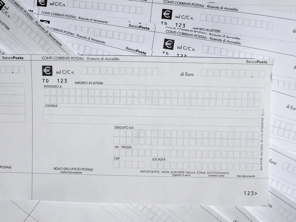 Postal order form \u2013 Stock Editorial Photo © claudiodivizia #70167905