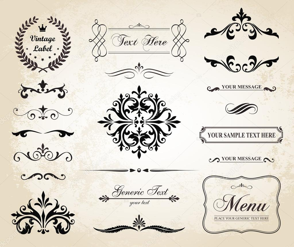 Descargar Decoraciones De Fotos Gratis Vector Vintage Ornamento Decorativo Bordes Y Divisores