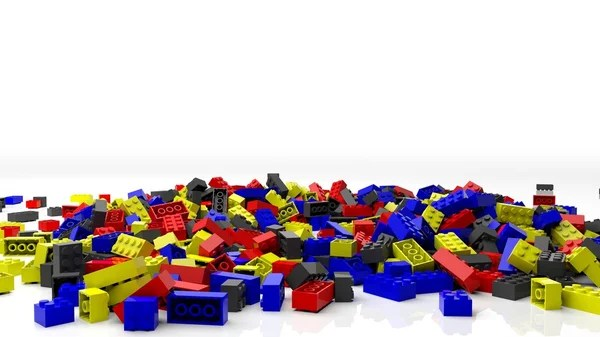 Free 3d Pile Of Bricks Wallpaper Pile Of Colorful Lego Blocks Isolated On White Background
