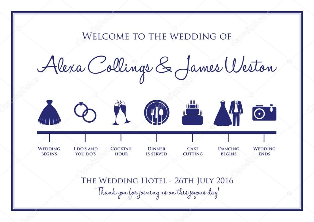 wedding timeline background \u2014 Stock Vector © jameschipper #86330900 - wedding timeline