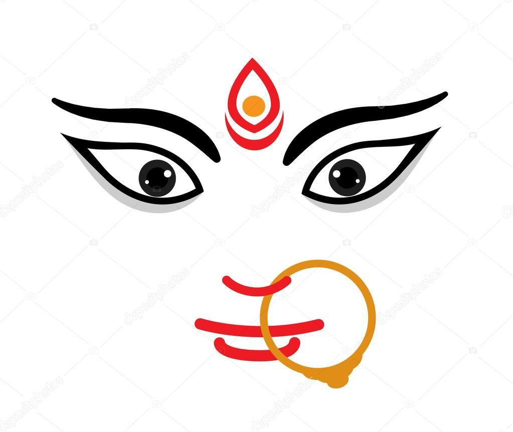 Om 3d Wallpaper Download Maa Durga Face Expression Mythological Hindu Goddess