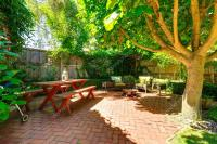 Cozy backyard patio area  Stock Photo  iriana88w #52822101