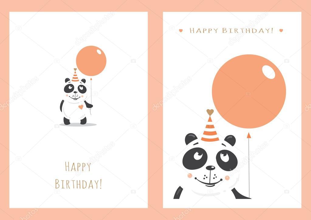 conjunto de cartões de aniversário \u2014 Vetores de Stock © voron4ihina