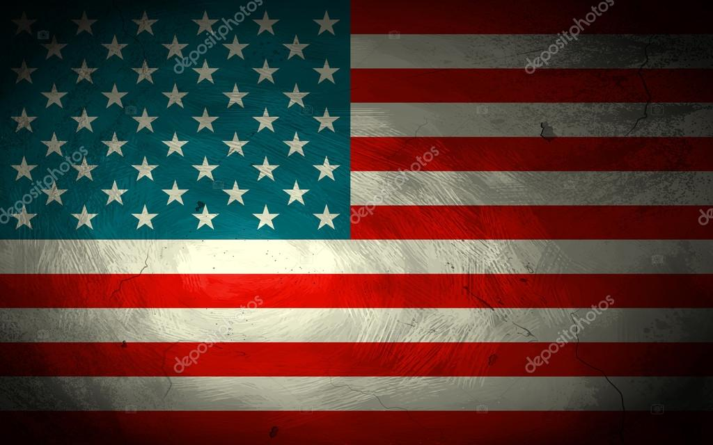 Grungy American Flag Background \u2014 Stock Vector © vectomart #114541078
