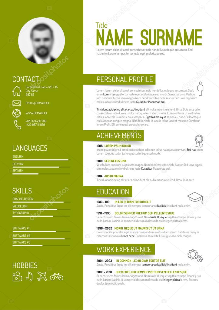 fancy cv template free
