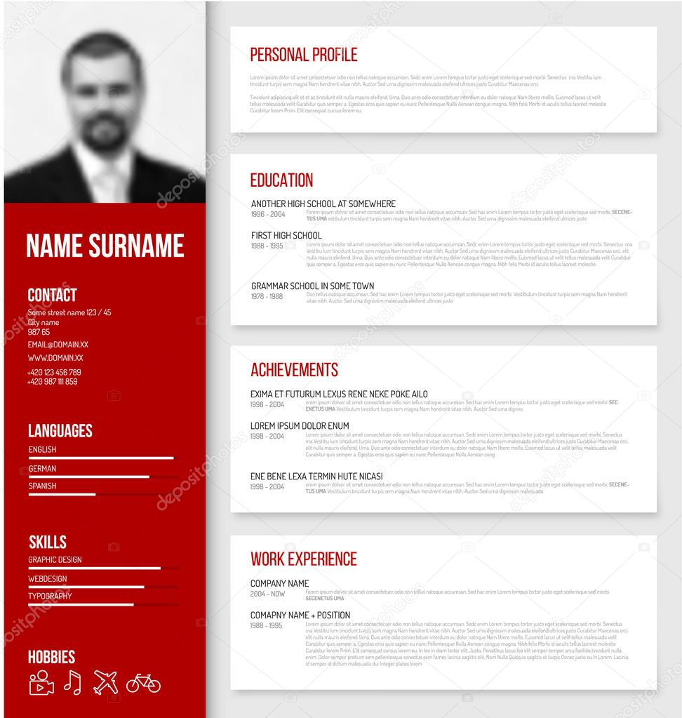Download 35 Free Creative Resume Cv Templates Xdesigns Cv Cv Mod232;le De Conception — Image Vectorielle 84218490