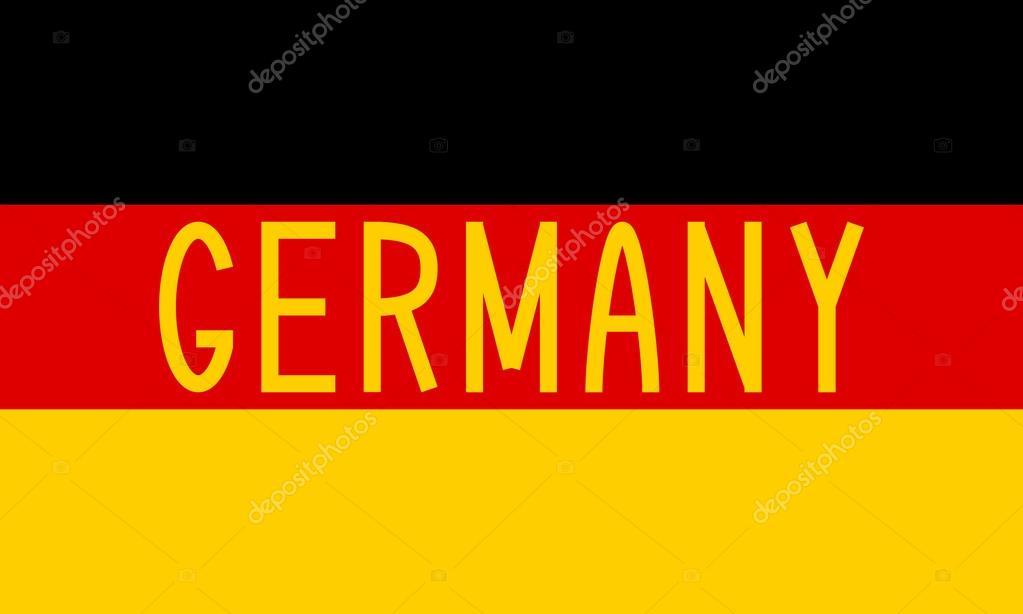 German flag and word Germany \u2014 Stock Vector © photoroman #92605602 - word flag
