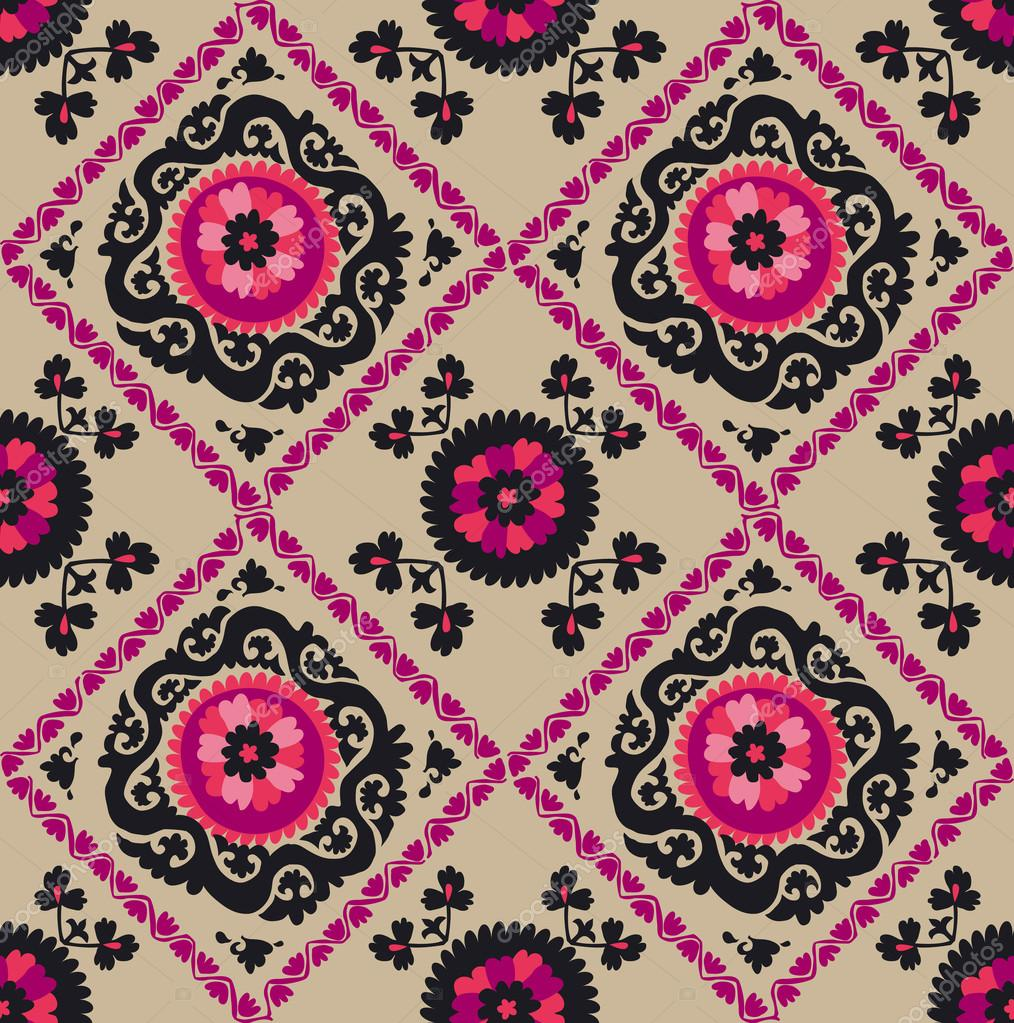 Asian Carpet Traditional Asian Carpet Embroidery Suzanne In Pink And Black Co