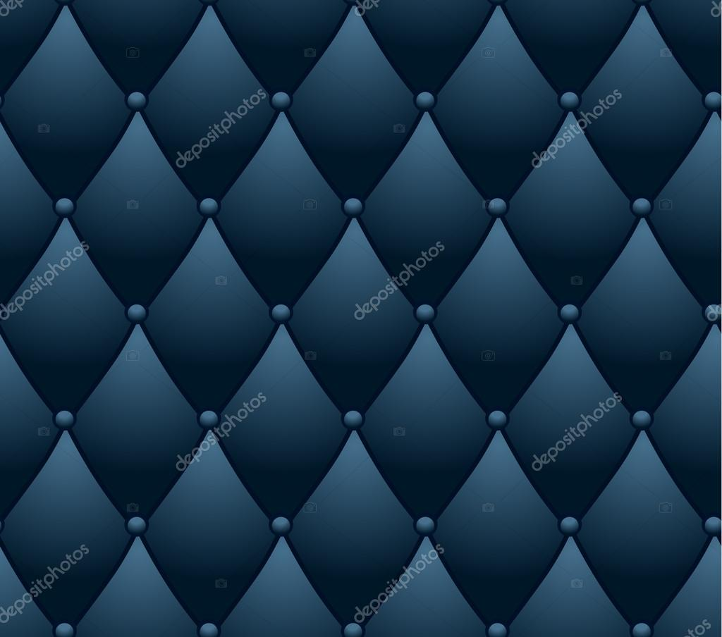 Blue Lounge Classic Lounge Couch Pattern Blue Quilted Background Стоковий
