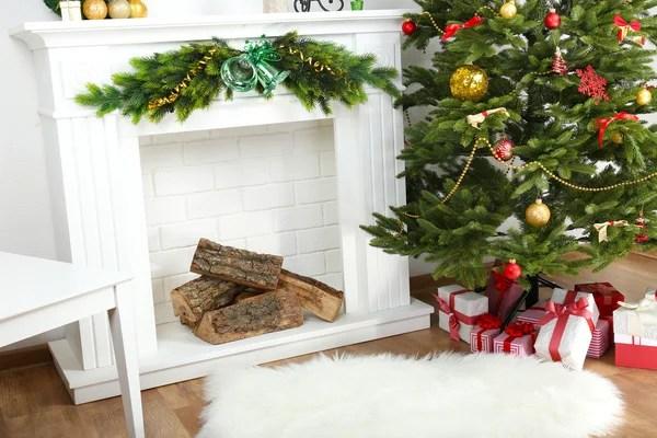 Marco Con Hermosas Decoraciones De Navidad Sobre Fondo De