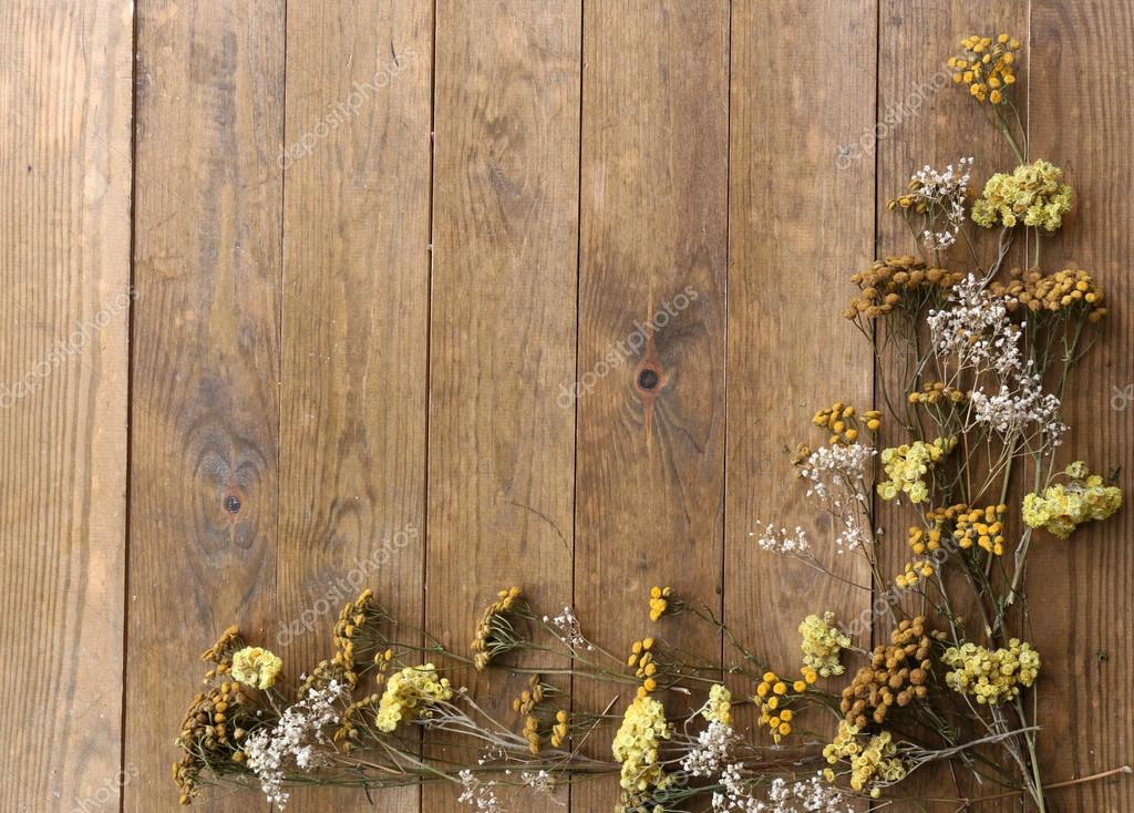 Fall Wooden Wallpaper Flores Secas No Fundo De Pranchas De Madeira R 250 Stica