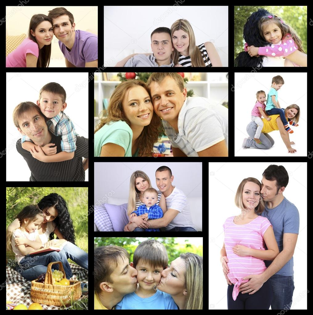 Collage Fotos Happy Family Photo Collage Stock Photo Belchonock 74135177