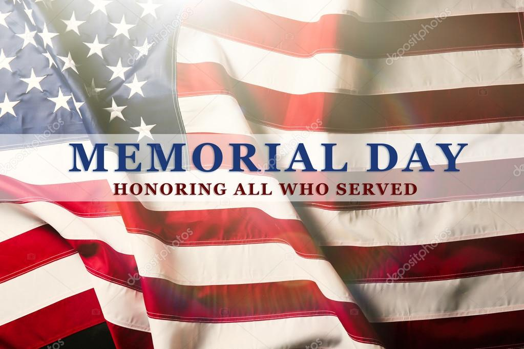 Memorial Day on American flag \u2014 Stock Photo © belchonock #98562592 - America Flag Background