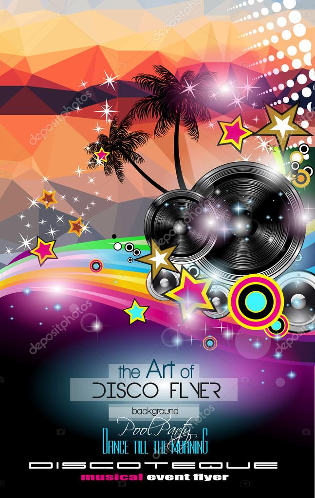Club Disco Flyer template \u2014 Stock Vector © DavidArts #117010694
