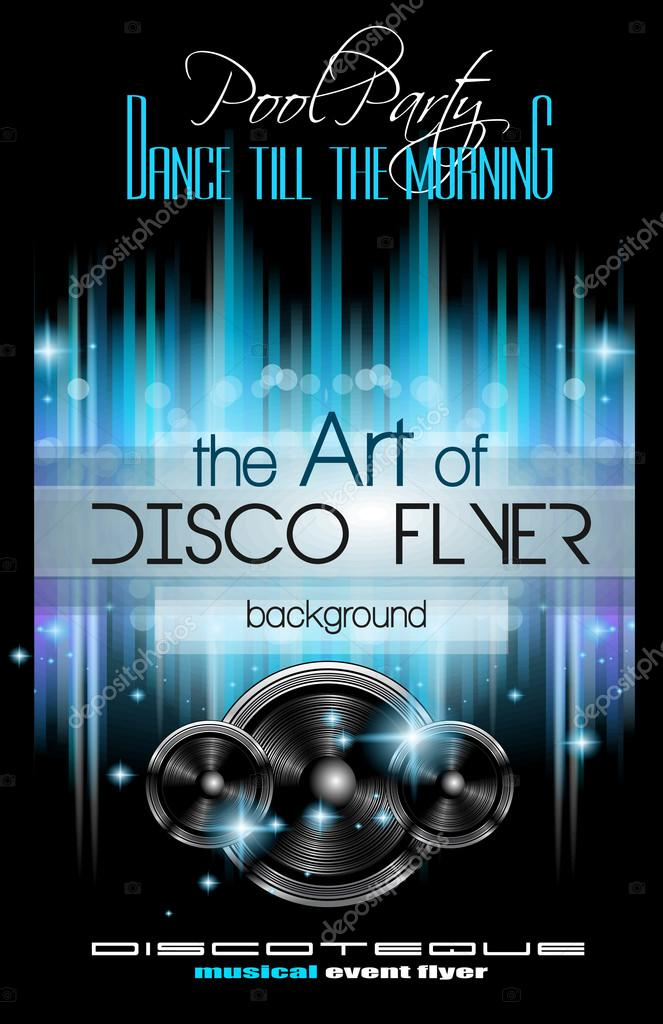 Disco Club Flyer Template \u2014 Stock Vector © DavidArts #83864894