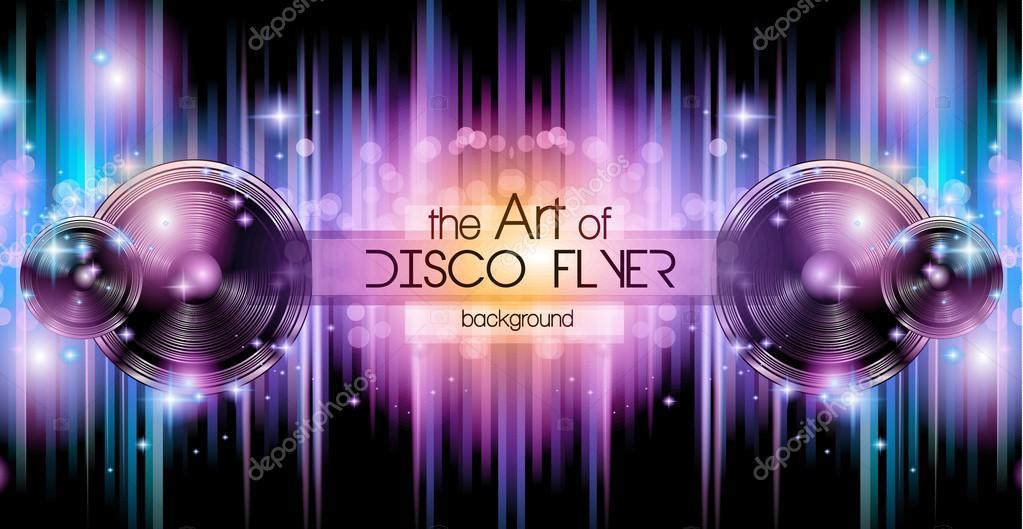 Disco Club Flyer Template \u2014 Stock Vector © DavidArts #85516682 - club flyer background