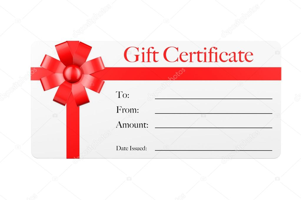Certificado de regalo en blanco Certificado de regalo con cinta