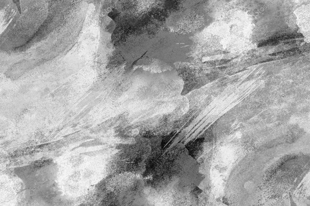 Black white watercolor background for backgrounds or textures
