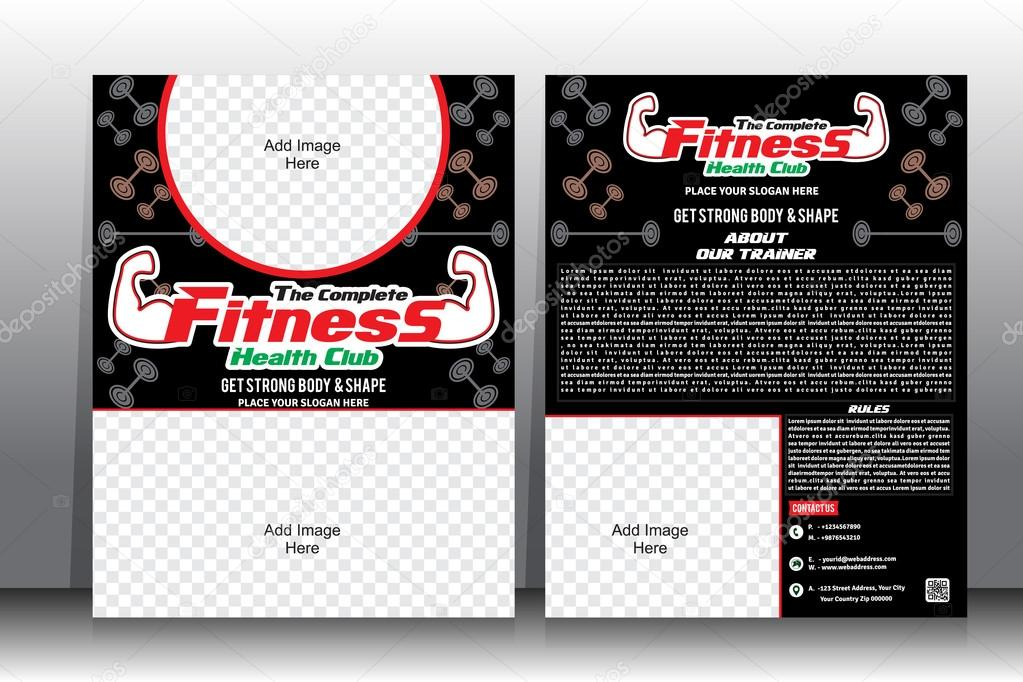 Fitness Flyer  Brochure Template \u2014 Stock Vector © gurukripa #69522293