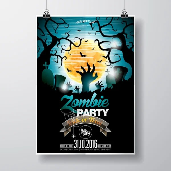 Zombie Flyer Template flyer template with patterned head of the