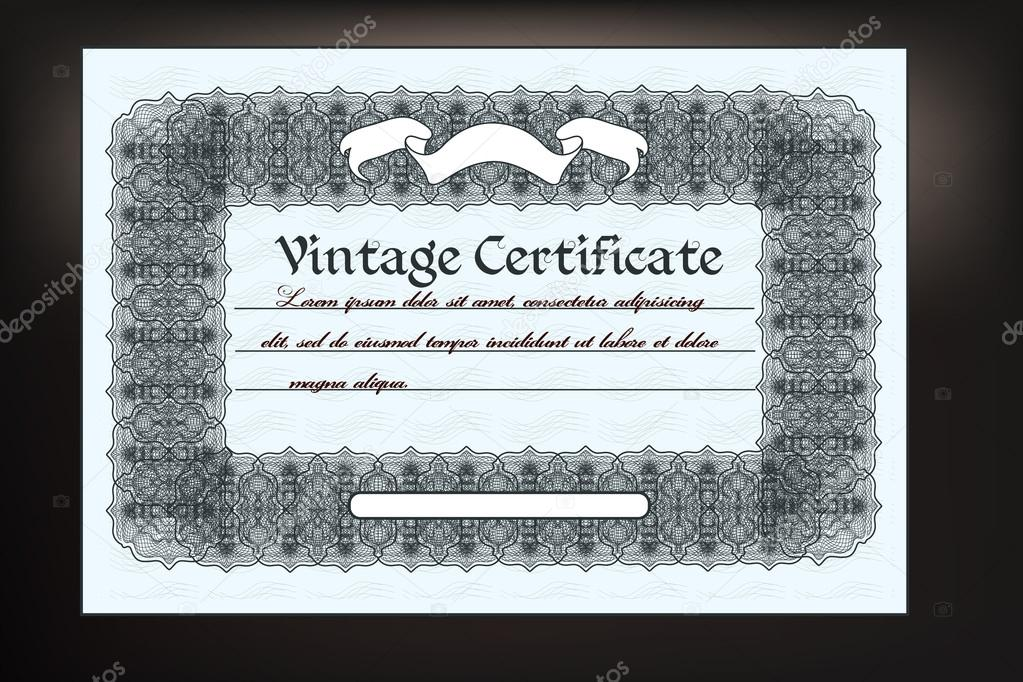 Gift coupon design in retro classic style for document designs