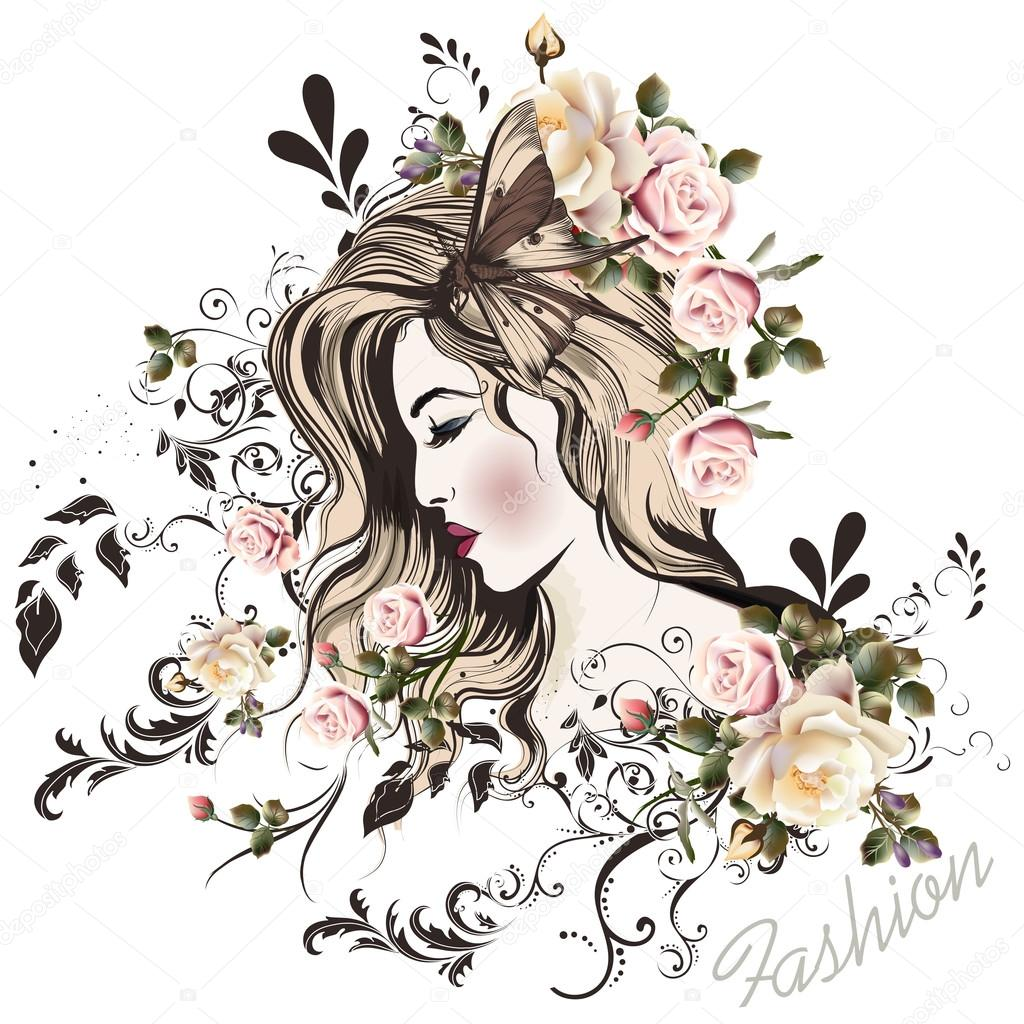 Cute Fairy Wallpaper Download Rosto Bonito Meninas Com Estilo De Desenho De Cabelos