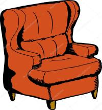 Cartoon Sofa Chair. Chair Clipart Sofa Pencil And In Color ...