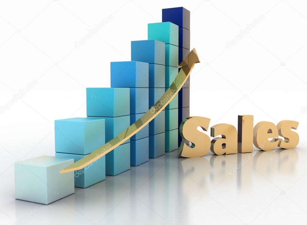 Sales growth chart \u2014 Stock Photo © 3DDock #52045365 - Sale Chart