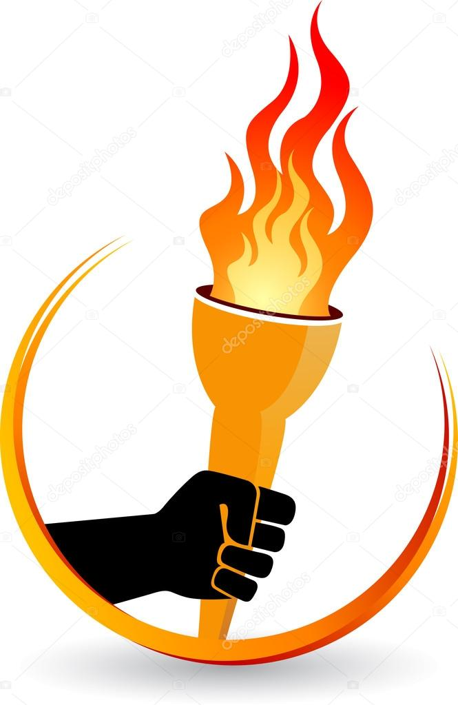 hand flame logo \u2014 Stock Vector © magagraphics #79553228 - flame logo